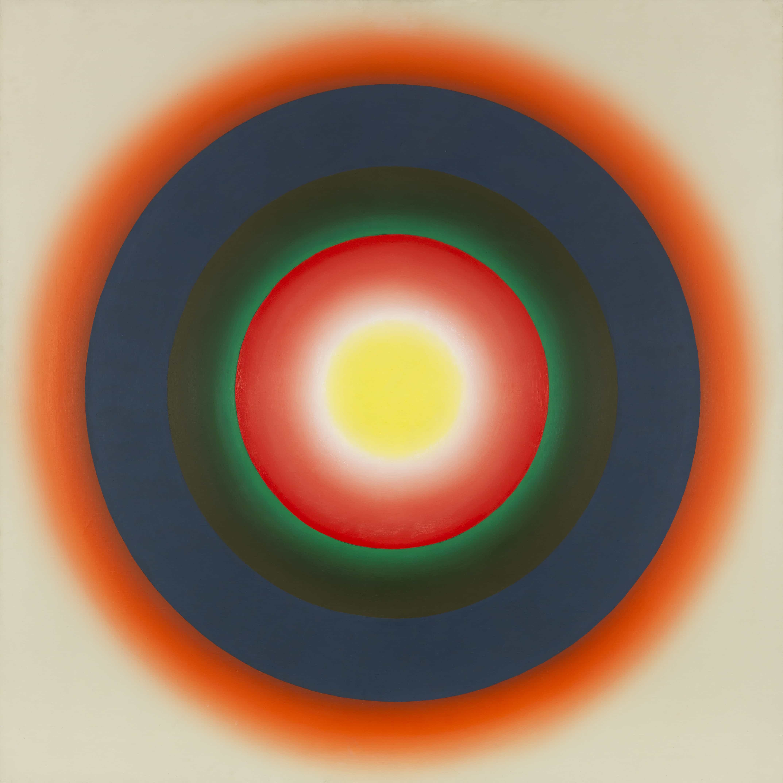 """Wojciech Fangor, """"E9"""", 1966, Öl auf Leinwand, Schätzung: € 100.000 Ergebnis: € 400.000"""